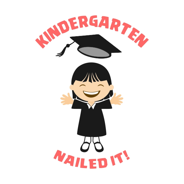 600x600 Kindergarten Graduation Cuttable Design