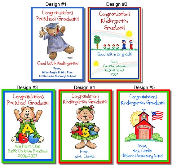 555x542 Kindergarten Preschool Graduation Crayon Box Labels Favors