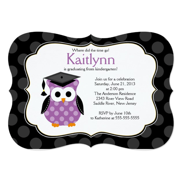 630x630 Personalized Kindergarten Graduation Invitations
