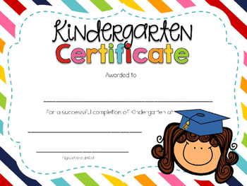 350x263 Editable Kindergarten Graduation Certificates By Kindergarten Daze