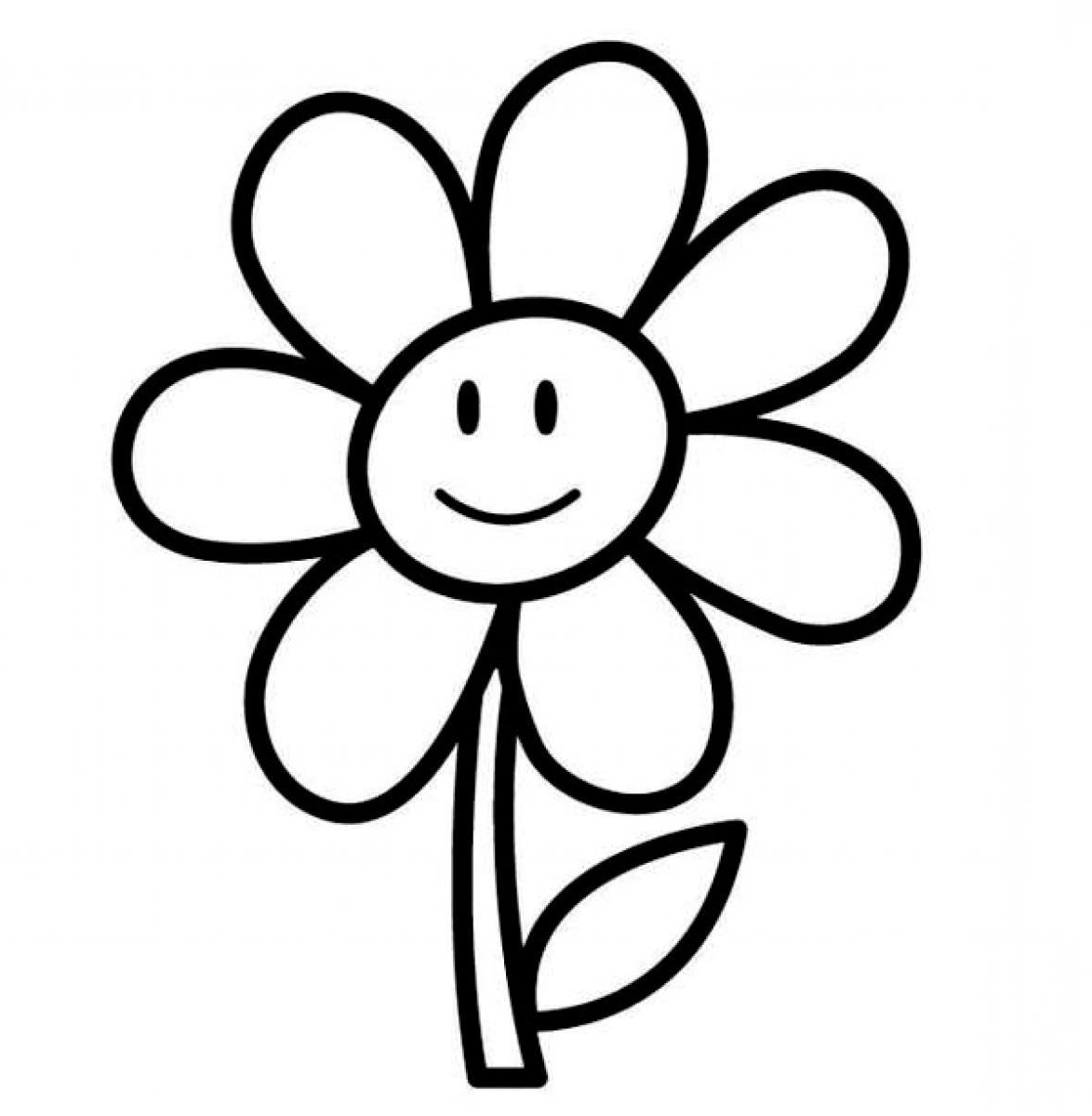 1174x1200 Simple Flower Drawing S For Kids Simple Flower Drawing For Kids
