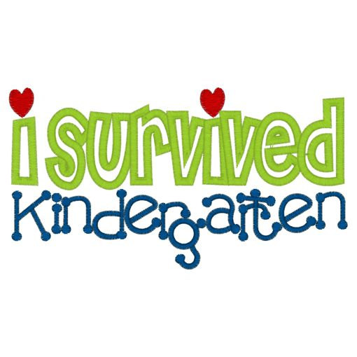 510x510 I Survived Kindergarten Tee Embroidery T Shirt