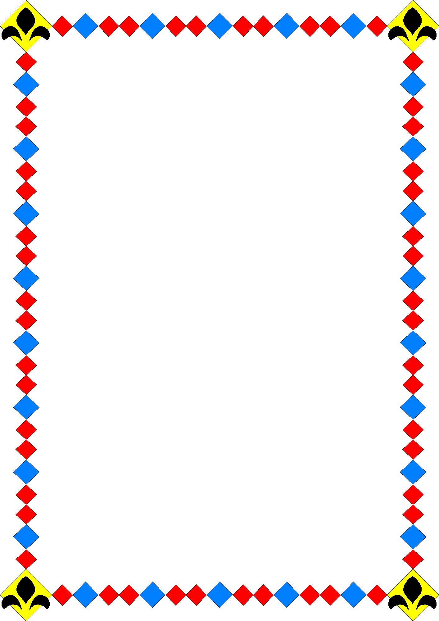 1414x2000 Kindergarten Border Clipart