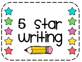 350x263 5 Star Writing In Kindergarten By Under The Alphabet Tree Tpt