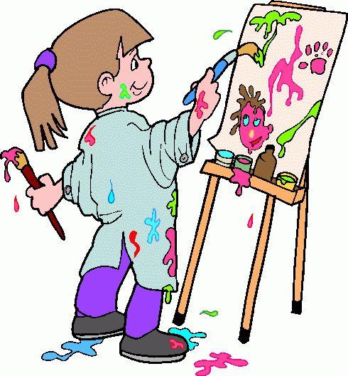 490x528 Art Teacher Clipart