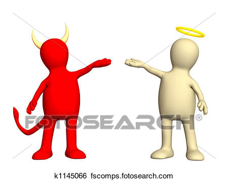450x357 Stock Illustration Of Angel And Devil