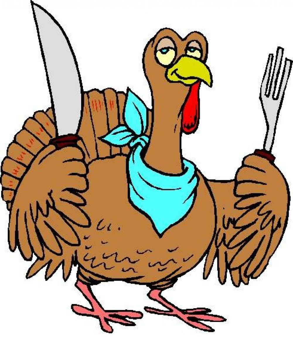 1000x1164 Turkey With Knife And Fork Funny Clip Art