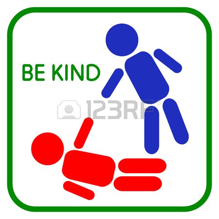 450x450 Vector Illustration Of Be Kind. Sign Help. Graphic Design Love