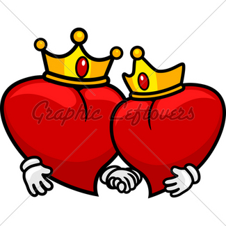 325x325 King And Queen Of Hearts Gl Stock Images