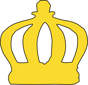 300x290 Gold King Crown Clipart