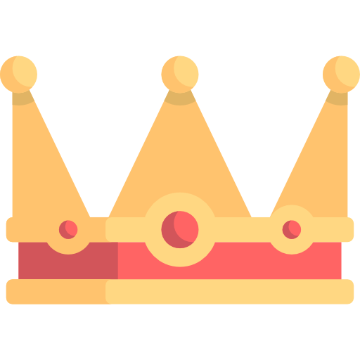 512x512 Royalty, Chess Piece, Miscellaneous, King, Crown, Queen Icon
