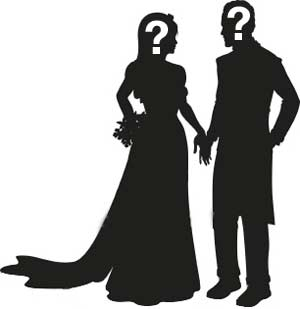 300x309 Shadow Clipart King And Queen