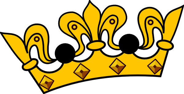 600x309 Tilted Crown Clipart