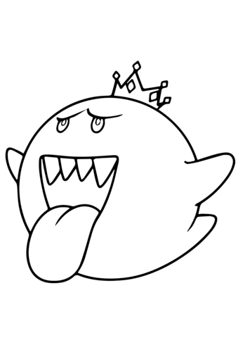 339x480 Mario Kart King Boo Coloring Page Free Printable Pages