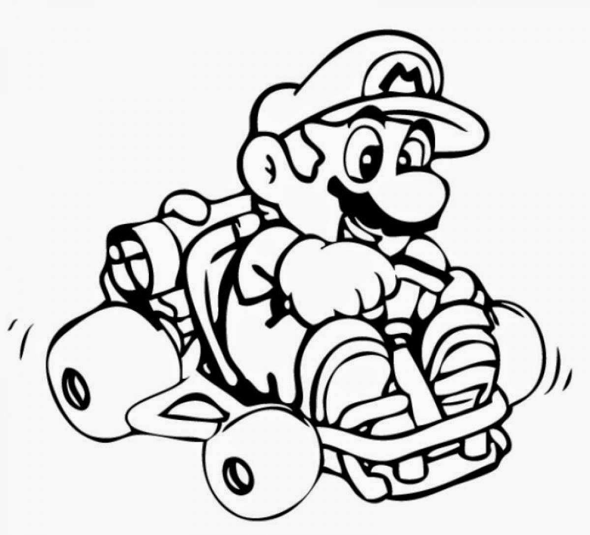 Colorful mario and luigi coloring pages printable sketch for King boo coloring pages