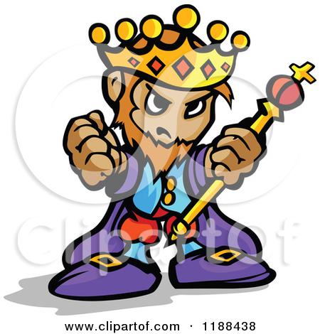450x470 King Clip Art 1188438 Cartoon Of A Tough King Holding Up A Staff