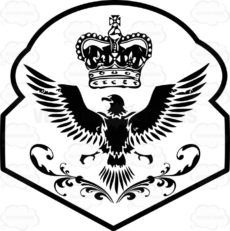 797x800 Black And White Eagle With Imperial Crown Above It Coat Of Arms