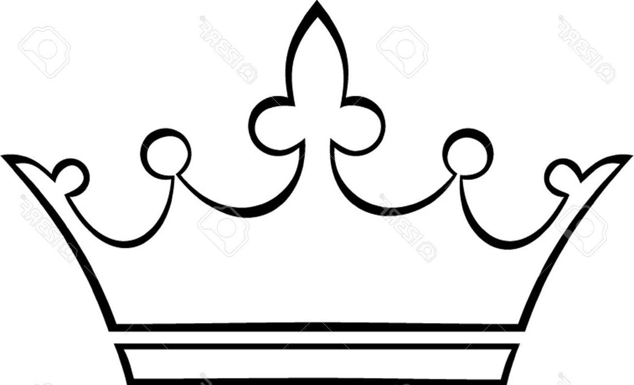 1300x791 Hd Crown Outline Stock Vector Princess King File Free