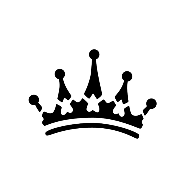 640x640 King Crown Clipart Black And White Heart