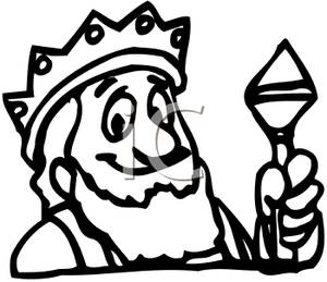 300x259 Black And White King Crown Clip Art