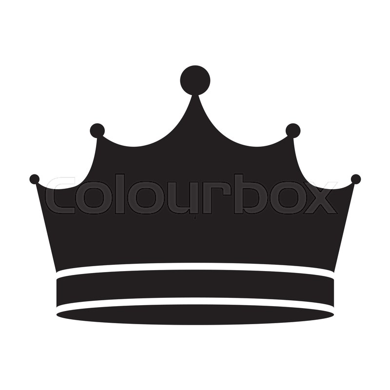 800x800 King Crown Royal Jewelry Accessory Icon Silhouette. Vector