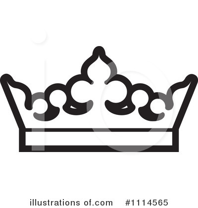 400x420 Queen Crown Black And White Clipart