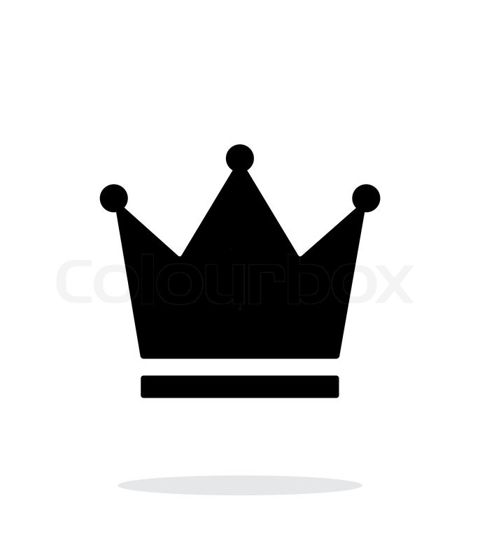 686x800 Crown King Icon On White Background. Vector Illustration. Stock