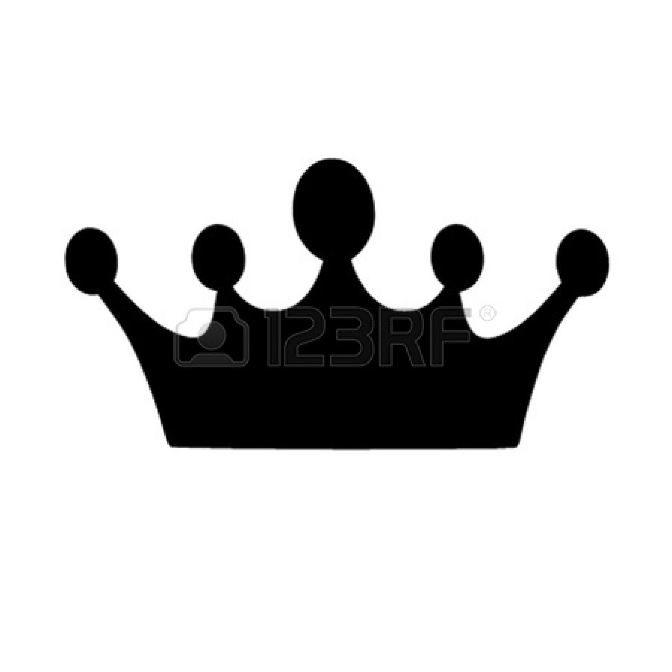 1350x1350 Crown Clipart Black And White No Background
