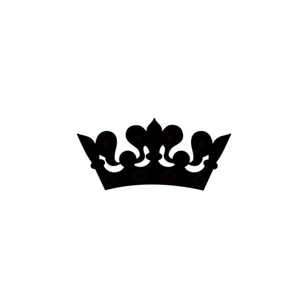 600x600 King Crown Clipart Black And White Heart