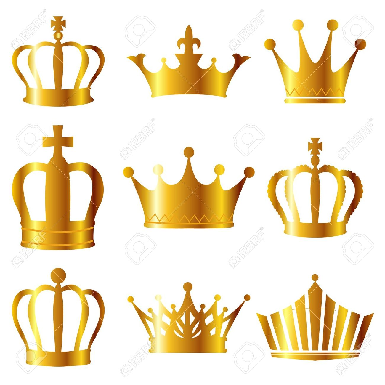 1300x1300 Gold Crown King Clipart