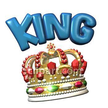 350x350 King Crown Clip Art