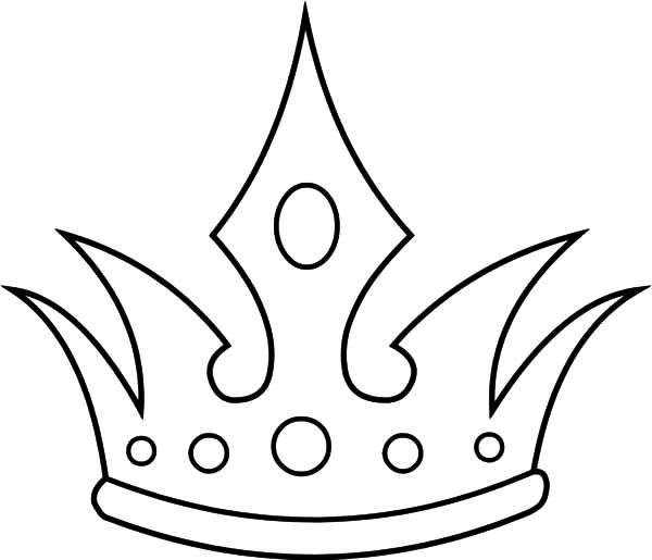 600x515 Drawn Crown Colouring Page