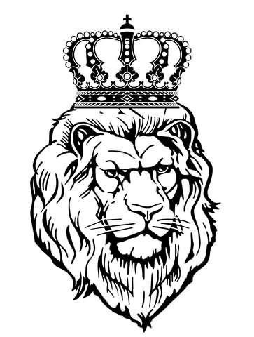 363x480 21 Best Lion With Crown Tattoo Drawings Images