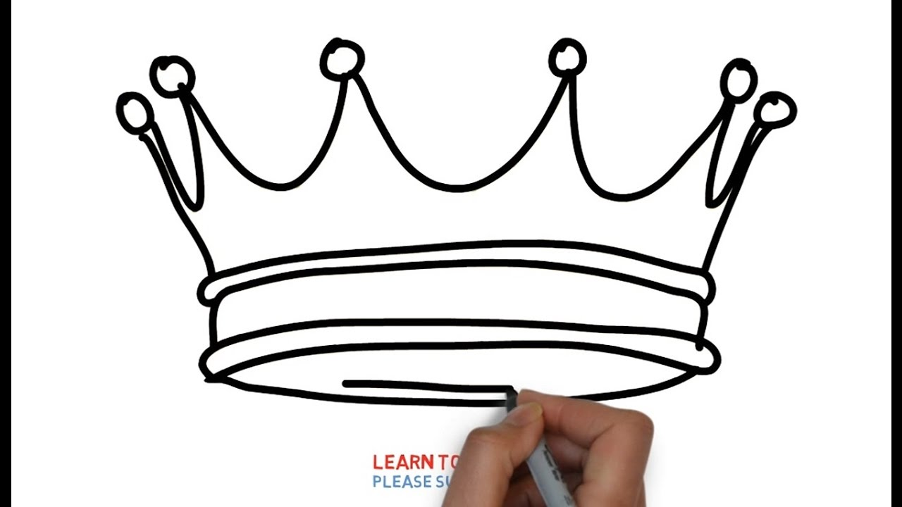 1280x720 Easy Step For Kids How To Draw A King's Crown
