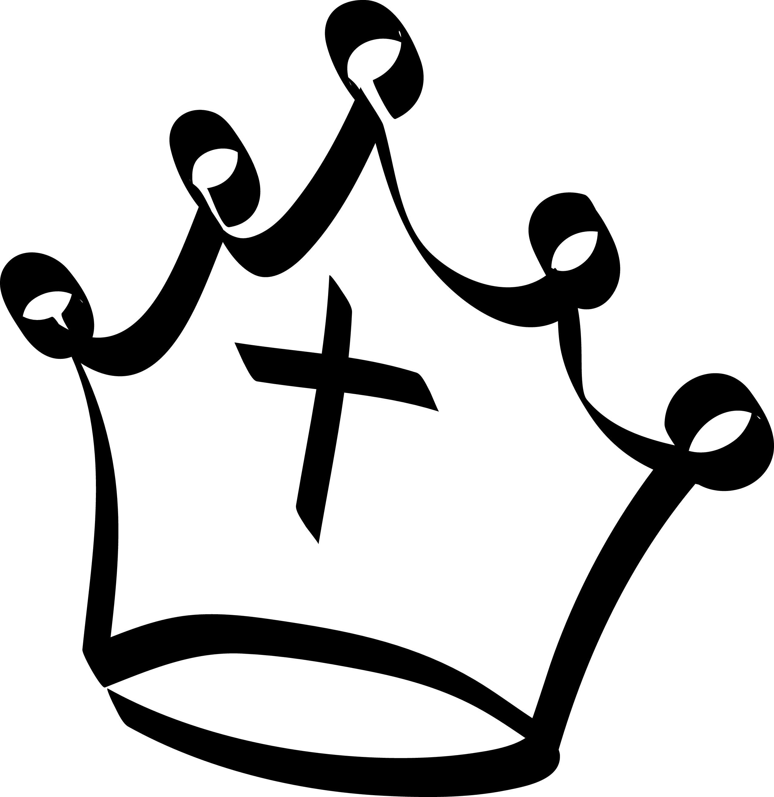 2550x2625 Evil King Drawing Simple Crown