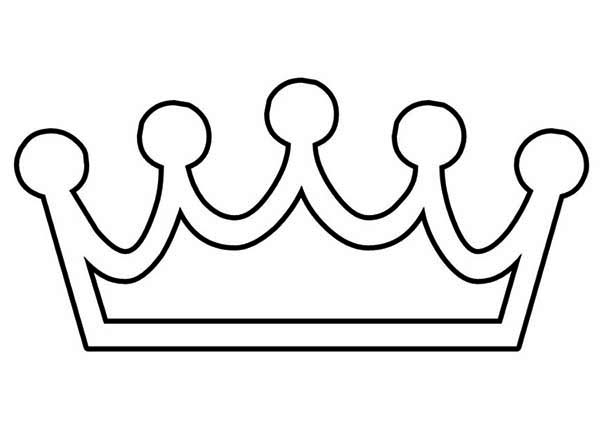 600x425 King Crown Coloring Page