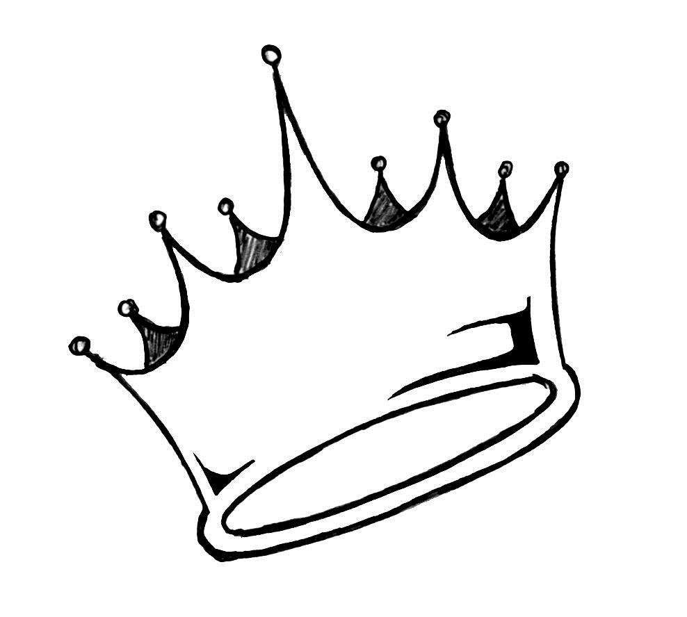 988x888 Simple Crown Drawing