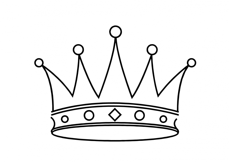 940x664 King Crown Drawing