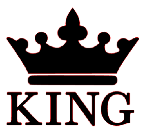 500x475 King Crown Vinyl Transfer (Black)