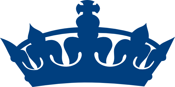 600x300 Crown Clipart Royal Blue