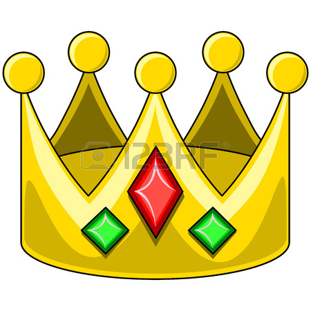 450x450 An Illustration Of A Gold Kings Crown Royalty Free Cliparts