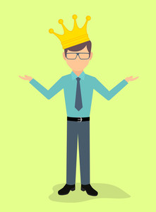221x300 King With Crown And Sword Illustration Royalty Free Stock Image