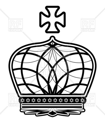 343x400 Royal Crown Outline Royalty Free Vector Clip Art Image