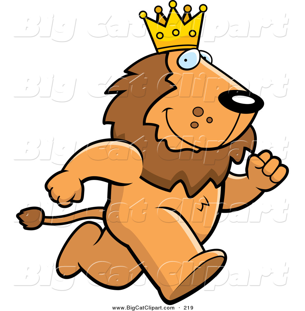 1024x1044 Big Cat Vector Clipart Of A Running Brown King Lion Character