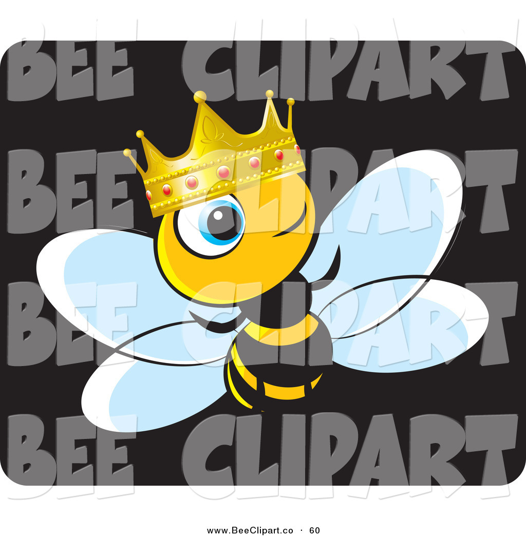 1024x1044 Vector Clip Art Of A Crowned King Bee Wearing A Gold And Ruby