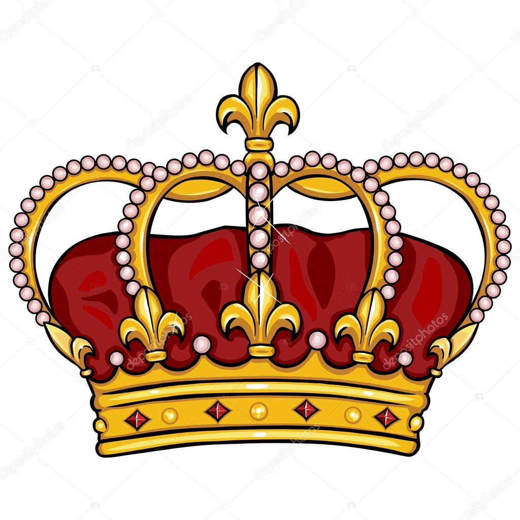 1024x1024 Vector Cartoon Royal Crown Stock Vector Nikiteev