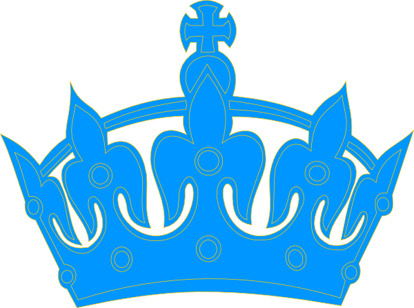 600x446 Blue Crown Clip Art