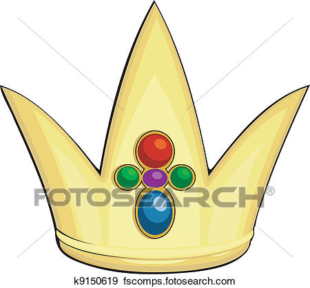 450x419 Clip Art Of Cartoon Illustration Of The Royal Crown K9150619