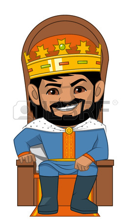 268x450 Illustration On White Backgournd Of The King In His Throne Stock