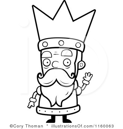 400x420 King On Throne Clipart Black And White